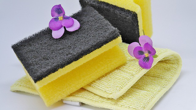 sponges used by house cleaners
