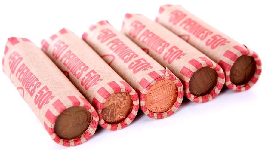 pennies in rolls